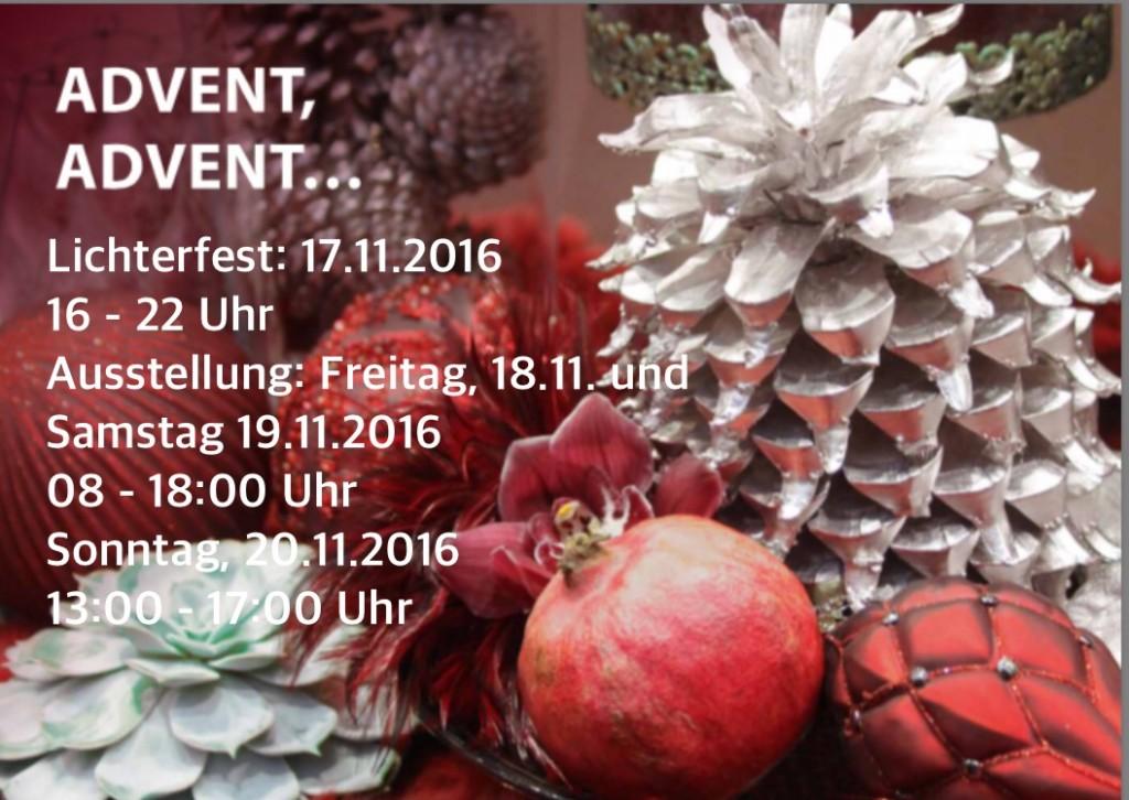 Flyer Advent mit Öffnungszeiten