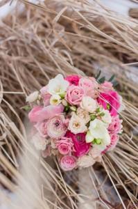 Brautstrauß pink